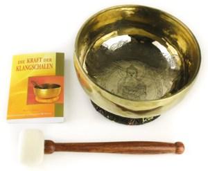 Buddha Klangschale Beginner mit Zubehör