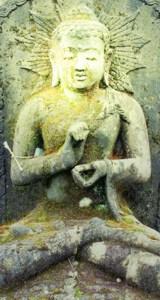 Klangschalen-Buddha Stein