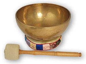 Klangschale Tibet mit Zubehör