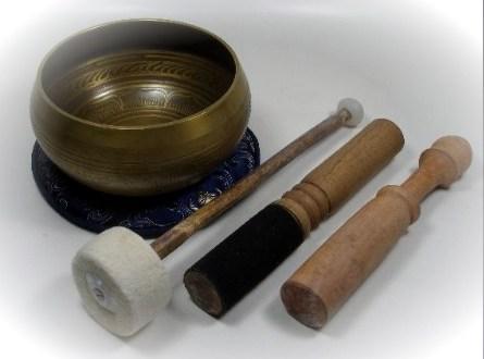 Set Wurzelchakra Klangschale aus Tibet