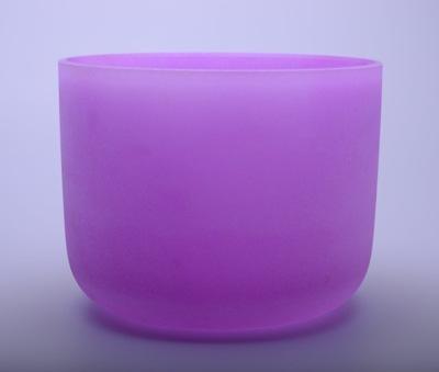 Kristallklangschale violett