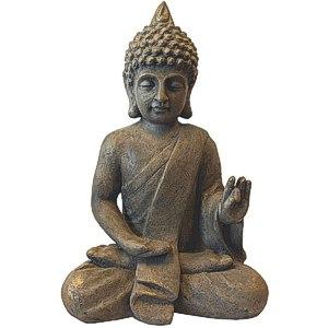 Deko Buddha sitzend H53cm Dekofigur Gartenfigur Steinfigur