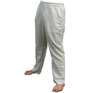 ZAMKARA yogawear Herren Yoga Leinenhose Bilaspur, Offwhite